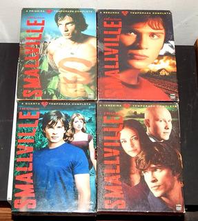 Dvd Box Smallville 1,2,3,4 Temporadas Completos