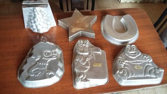Lote Moldes De Aluminio Para Torta Figuras Varias