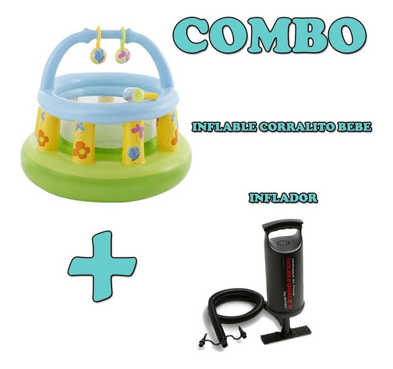 Combo Inflable Corralito Pelotero Bebe + Inflador Intex Mm