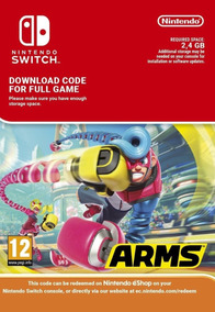 Arms - Nintendo Switch Código 16 Digitos Eshop