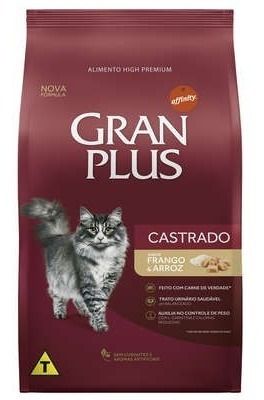 Ração Gran Plus Gato Castrado Frango 10kg