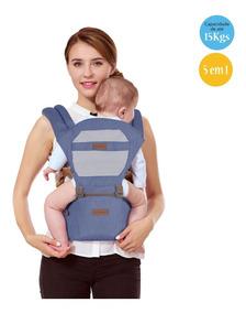 Canguru Ergonômico 5way Maxi Baby Hipseat (15kg) - Jeans