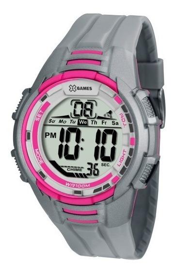 Relógio X- Games Feminino Cinza E Rosa - 33830