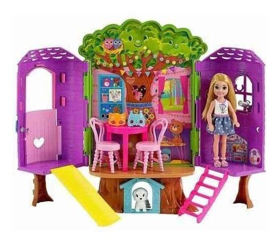 Boneca Barbie Casa Na Árvore Da Chelsea Club Da Barbie Fpf83