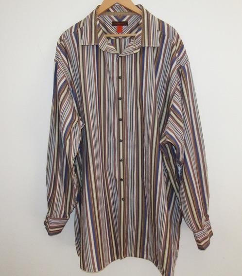 Camisa De Vestir Rayada Talla 5 Xlt