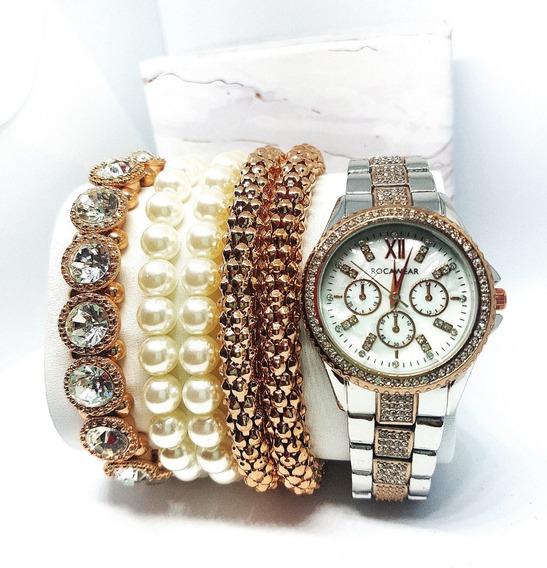 Reloj Rocawear Nuevo Original Dama Con Pulceras