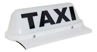 Cartel Para Taxi Personalizado Con Imán Y Led Somos Fábrica