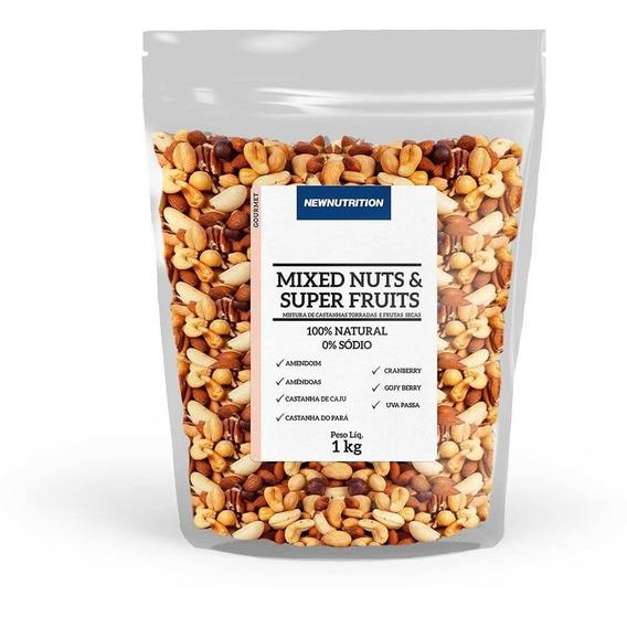 Mix De Castanhas Com Frutas Secas 1kg Newnutrition
