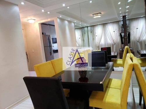 Apartamento À Venda, 49 M² Por R$ 275.000,00 - Parque São Vicente - Mauá/sp - Ap0450