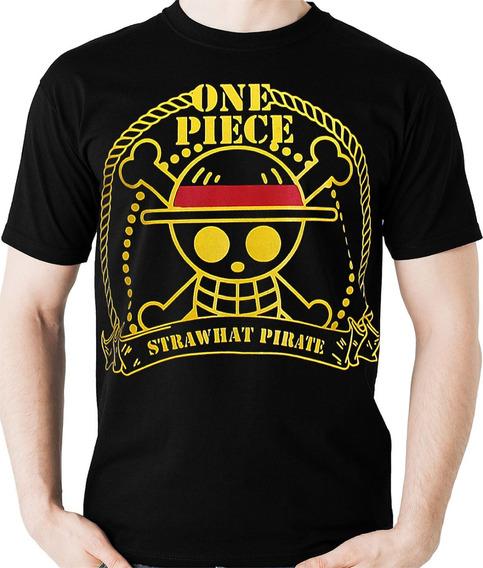 Camiseta One Piece - Piratas Logo (nerd / Geek) Camisa Blusa
