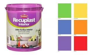 Recuplast Interior Latex Colores Listo Lavable 4lts Pintumm
