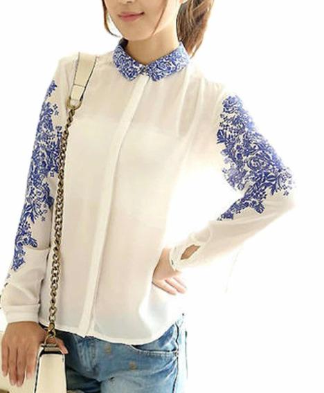 Camisa Porcelana/azulejo