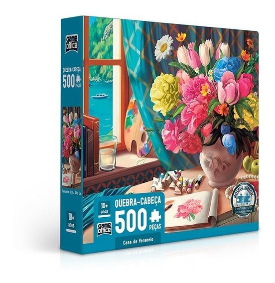 Quebra Cabeça Puzzle 500 Peças Casa De Veraneio Toyster