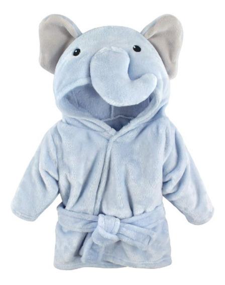 Toalla Baby Animal Bata Baño Para Bebe 0-9 Meses Elefante