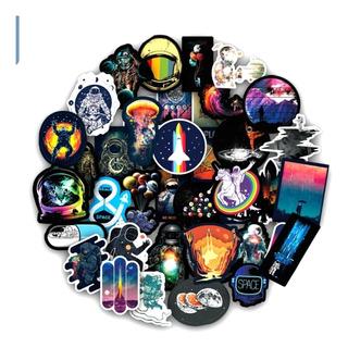 Espacio Nasa Astronauta 100 Calcomanias Stickers Pvc C