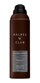 Gel Espuma Para Barbear Malbec Club 150ml