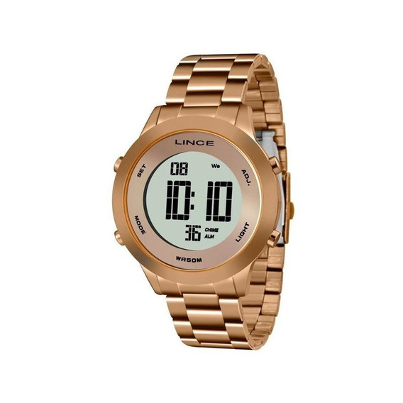 Relógio Lince Feminino Digital Rosê Sdrh037l Bxrx