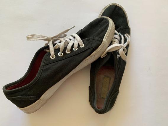 Zapatillas Tipo Vans Usadas Impecables Mujer Talle 39