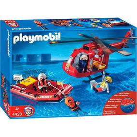Playmobil 4428 - Bote E Helicóptero
