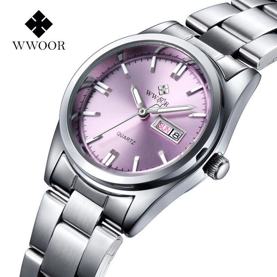 Reloj Pulsera Wwoor Original Deportivo Redondo Para Hombre
