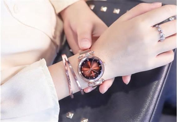 Relógio Feminino Pulseira Magnética - Ulzzang