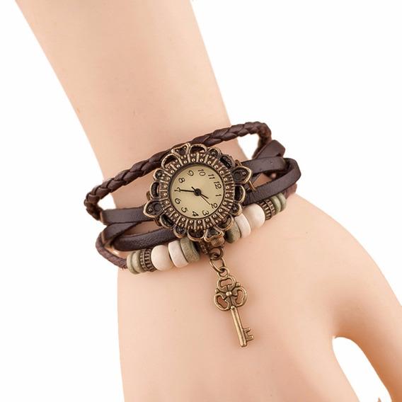 Relógio Feminino Moda Casual Hora Chave Tecer