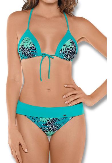 Vestido De Baño Bikini Verde Haby Para Mujer (31501)