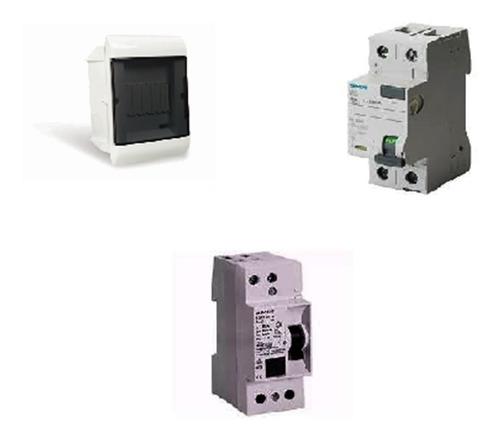 Combo Caja Steck 5+ Disyuntor Siemens 2x25+tm 2x16/20/25 Sie