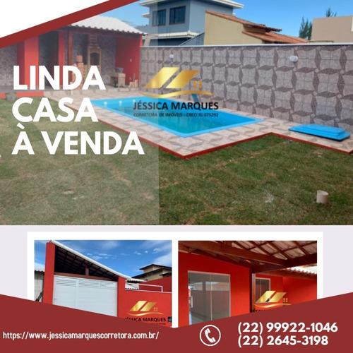 Imagem 1 de 10 de Jmc-005-1- Casa Com 2 Quartos Próximo À Praia De Unamar