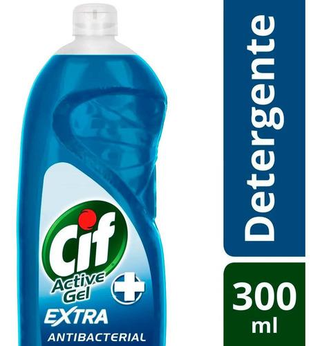 Detergente Lavavajilla Cif Active Gel Antibacterial 300 Ml