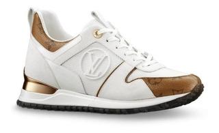Tenis Lv Louis Vuitt*on Sneaker Blanco Foto Real