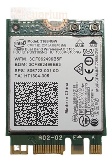 Placa Wifi Intel Dual Band Bluetooth 3165ngw Bgh A1000 A1100