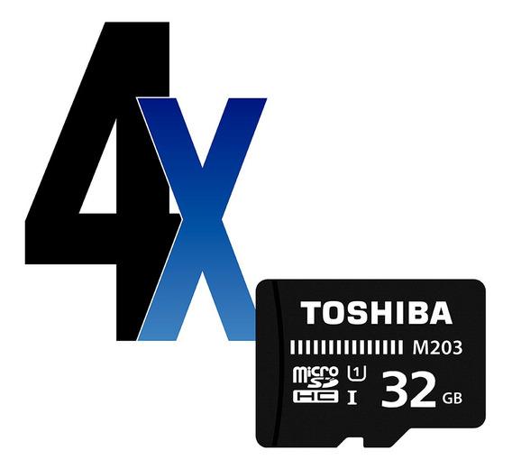 Cartão De Memória 32gb Microsdhc 100mb/s Toshiba 4un