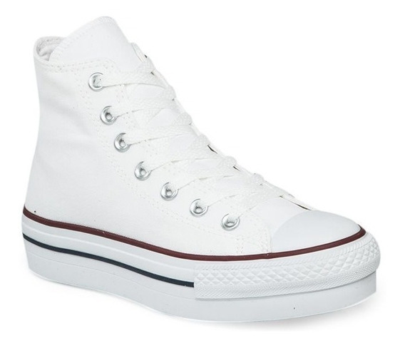 Botitas Converse All Star Blanco Plataforma! Exclusiva Dama
