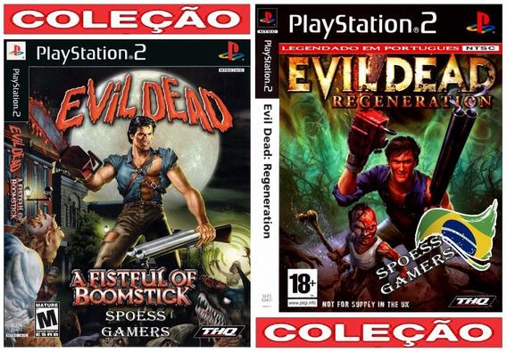 Evil Dead 1 E 2 Português Ps2 Coleção (2 Dvds) Patch Terror