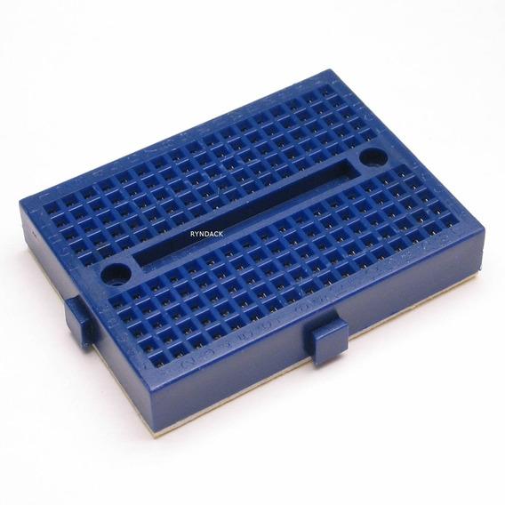 4 Peças * Mini Protoboard 170 Furos Azul Com Adesivo