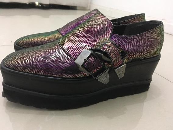 Zapatos Ricky Sarkany Tornasolados Talle 38. Un Solo Uso!!!