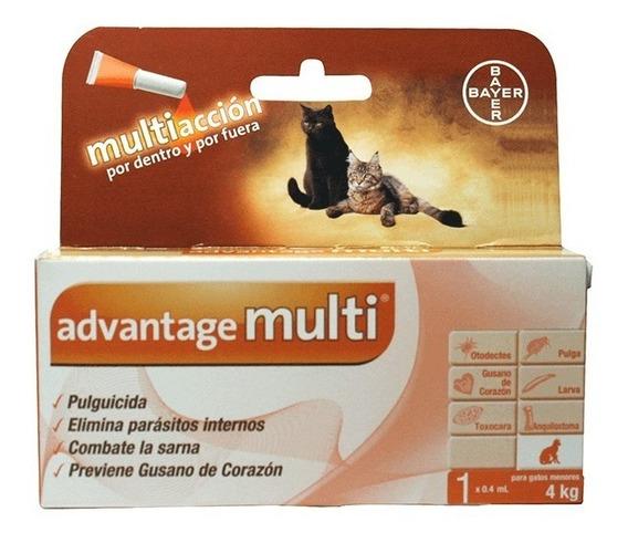 Antipulgas Advantage Multi Gato 0-4 Kg Envio Gratis Petguru