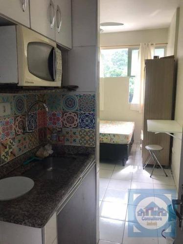 Kitnet Com 1 Dormitório Para Alugar, 15 M² Por R$ 1.000,00/mês - Itararé - São Vicente/sp - Kn0716