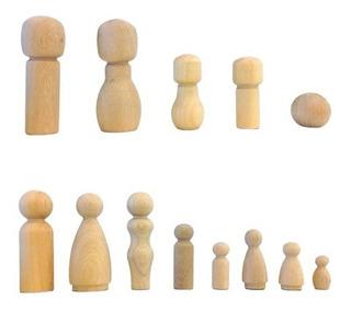 Muñecos Madera Torneada X Unidad Peg Dolls Baum Almacen