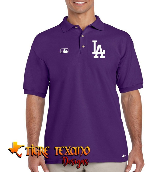 Playera Polo Dodgers Baseball M-01 By Tigre Texano Designs