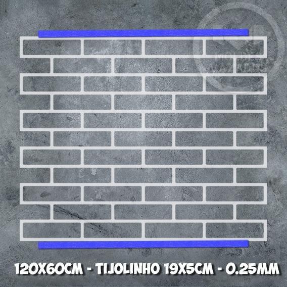Stencil Tijolinho Fake 120cm Para Pintura Ou Marcação
