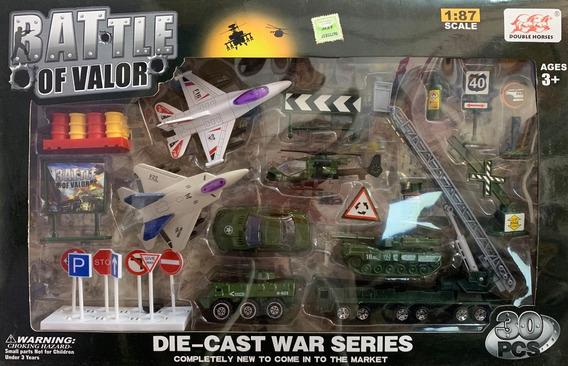 Autos En Set Militar X 30 Piezas. Escala 1:87
