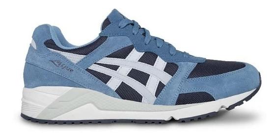 Tênis Asics Tiger Gel Lique Azul Original Marceloshoes