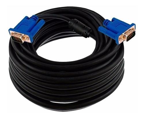 Imagen 1 de 2 de Cable Vga A Vga 10 Metros  Doble Filtro Calidad Cuotas Ade