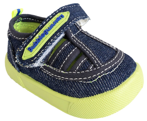 Zapato Para Niño Bubble Gummers Ivy Mezclilla Verde