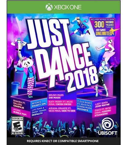 Justdance 2018 Xbox One Mídia Física (novo) Lacrado