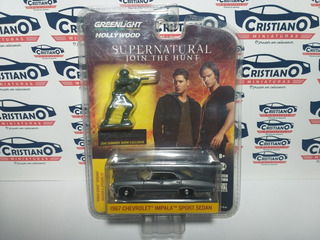Chevrolet Impala Sport Sedan 67 + Boneco Greenlight Supernat