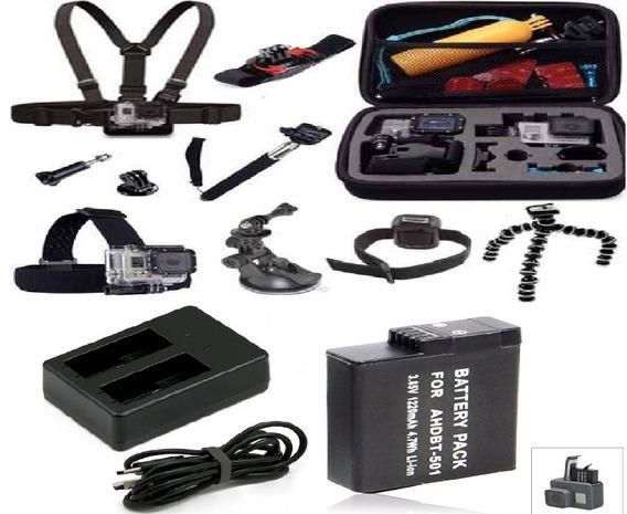 Kit Acessórios Gopro Hero 5 3+ 4 Edition Silver Black 5 6 7