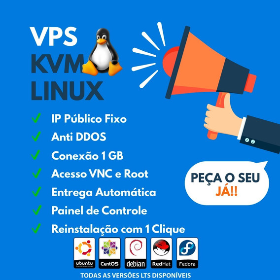 Servidor Vps Xeon 2.2ghz/3.0ghz 1gb Ram 100gb - Linux